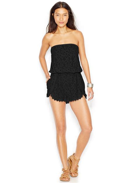 Strapless Lace Playsuit free strapless lace romper where to buy how to wear