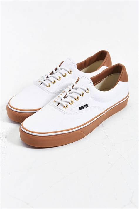 white sneakers gum sole vans california era 59 gumsole sneaker in white for lyst
