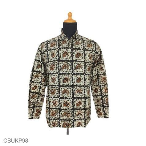 Kemeja Batik Sogan Tangan Panjang kemeja batik panjang motif sogan batangan kemeja lengan