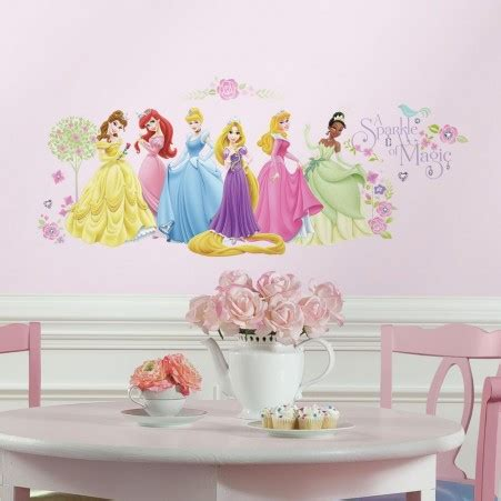 wall stickers princess glow within disney princess wall decals roommates