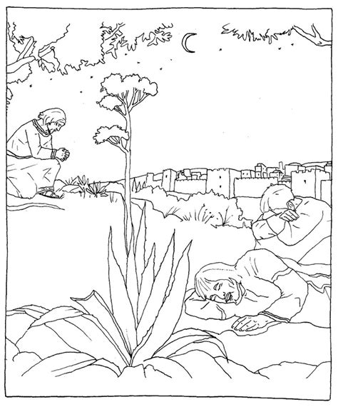 coloring pages jesus in gethsemane jesus praying in the garden of gethsemane catholic