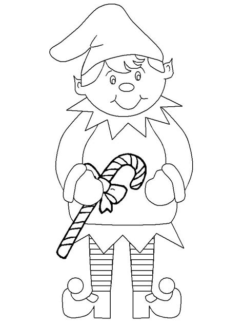 coloring pages christmas elves candy cane elf coloring page christmas pinterest