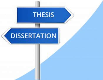 dissertation thesis difference difference between thesis and dissertation thesis vs