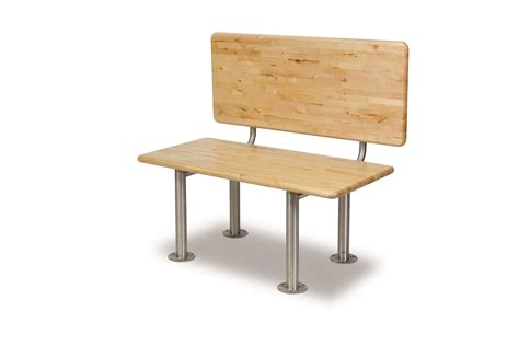 ada bench ada locker bench with back support stainless steel
