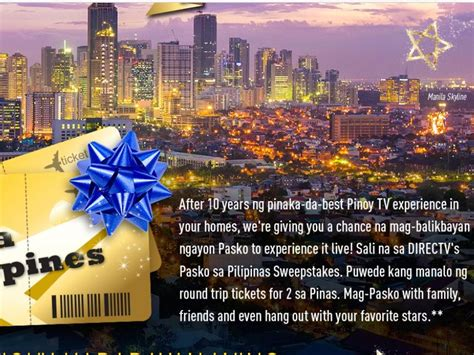 Direct Tv Sweepstakes - directv pasko sa pilipinas sweepstakes sweepstakes fanatics