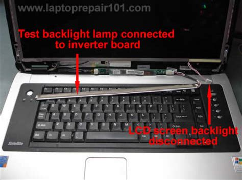 how to troubleshooting laptop with backlight failure