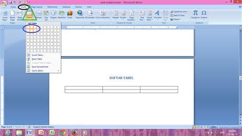 cara membuat daftar tabel gambar otomatis cara membuat daftar isi otomatis daftar gambar daftar