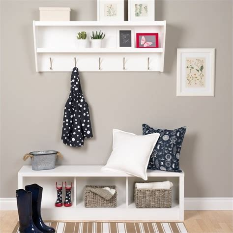 white entryway bench and shelf floating entryway shelf with bench in white wuxx 0500 1 pkg