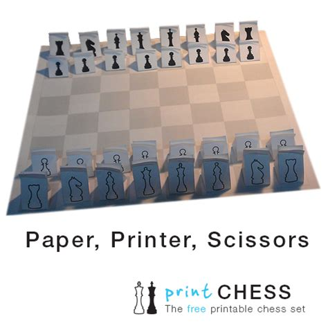How To Make A Paper Chess Set - home print paper chess