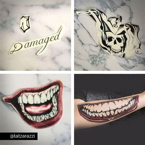 joker smile tattoo all jokers jared leto and temporary tattoos on