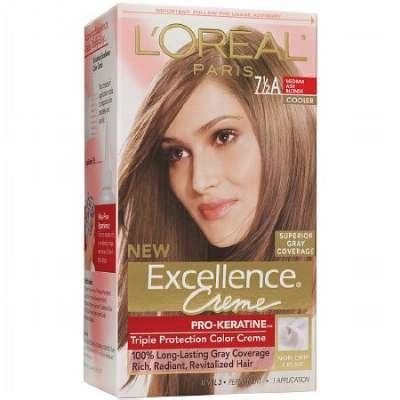 l oreal excellence creme permanent hair color medium coppery golden brown 8 43 1 74 oz pack l oreal excellence creme protection color creme level 3 permanent medium ash