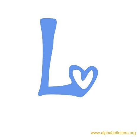 Blue L by Printable Alphabet Letters For School Alphabet