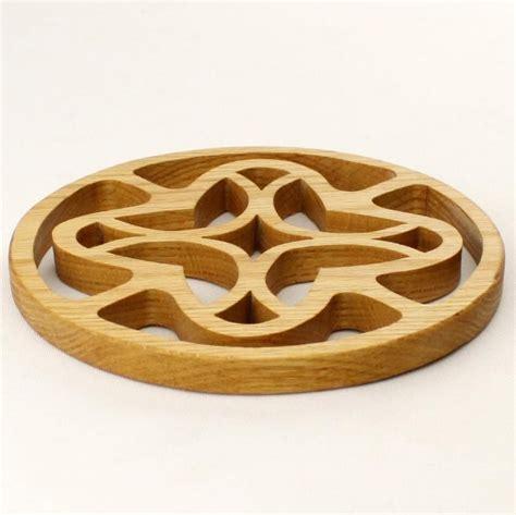 oak trivet potholder wooden trivet   wood