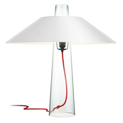 Modern Clear Glass Shades And Modern Clear Glass Table L With White Paper Shade And