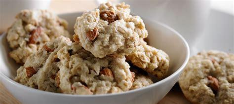 Almond Crispy Chocolate Cheese crispy almond coconut cookies recipe dairy goodness
