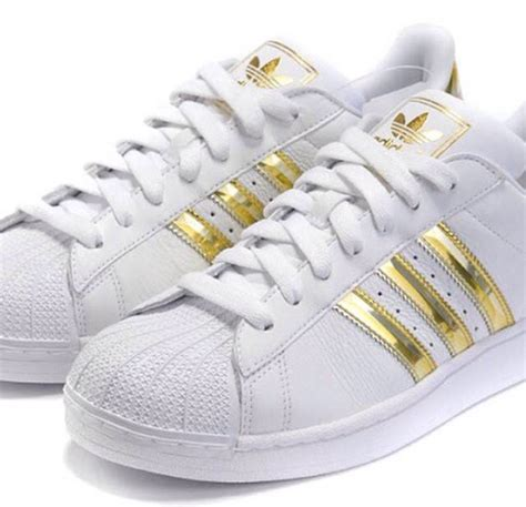 gold adidas sneakers shoes superstar adidas shoes sneakers gold wheretoget