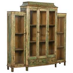 Antique Bookcase With Glass Doors Antique Green Bookcase Display Cabinet With Glass Doors China Circa 1890 At 1stdibs