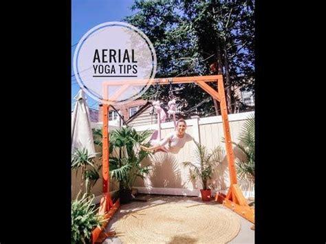 aerial yoga tutorial criss cross flip youtube