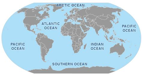 oceans map oceans and seas seas