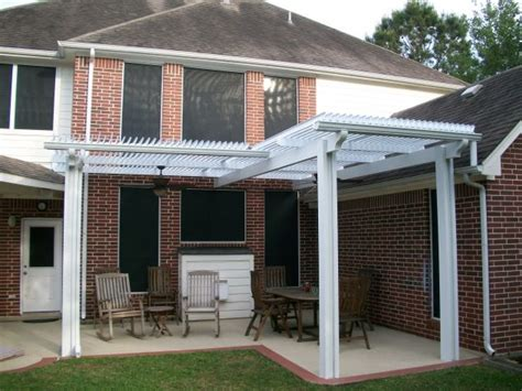 shaped louvered roof patio cover   patio