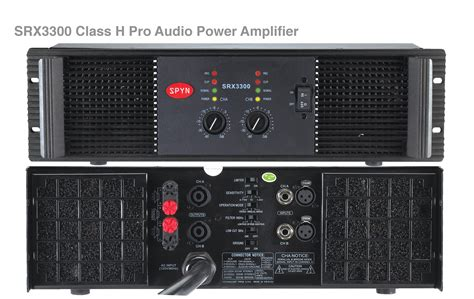 Power Sq Audio Class H spyn pro audio power lifier srx3300