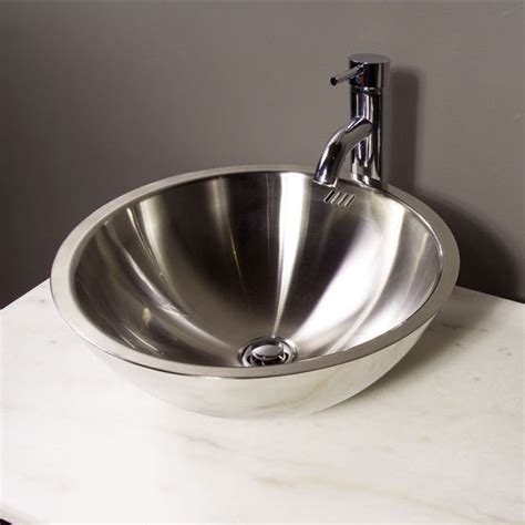 Stainless Steel Bathroom Sinks by Bathroom Sinks Stainless Steel Vessel Bathroom Sink By