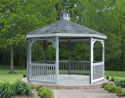 pvc gazebo vinyl single roof octagon gazebos gazebos by style
