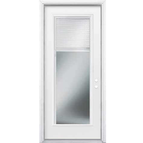 Exterior Door Blinds Shop Reliabilt Blinds Between The Glass Lite Prehung Inswing Steel Entry Door Prehung At