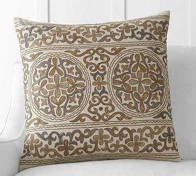 roma embroidered pillow cover pottery barn
