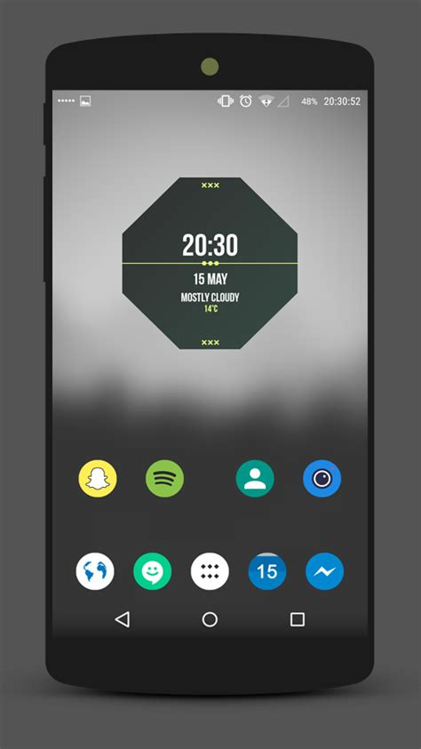 home screen layout strategy graygreen space minimal homescreen design by izyman on