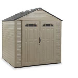 shop rubbermaid roughneck gable storage shed common 7 ft