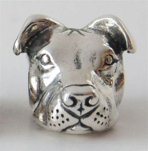 european style sterling peaceful pit bull charm pit bull