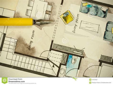 custom plans architectural flat floor plan stock illustration image 57372427
