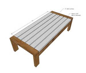 Coffee Table Plans White 2x4 Outdoor Coffee Table Diy Projects