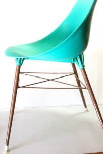French Drapery Vintage Turquoise Teal Aqua Molded Plastic By