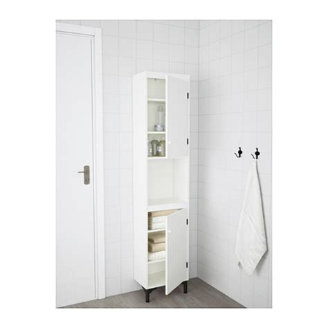 silver 197 n high cabinet with 2 doors white 40x25x184 cm ikea