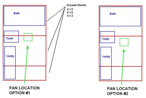 toilet fan without exhaust bathroom exhaust fan location in drywall drywall