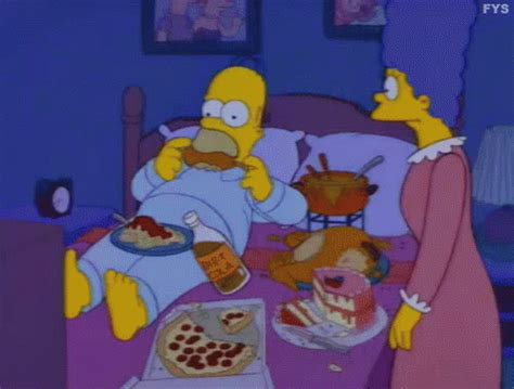 snack fever gif simpsons homer bed gifs | say more with