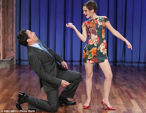 emma watson jimmy fallon emma watson shows jimmy fallon her moves daily mail online