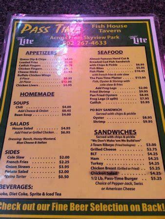 pass time fish house passtime fish house tavern jeffersontown ulasan restoran tripadvisor