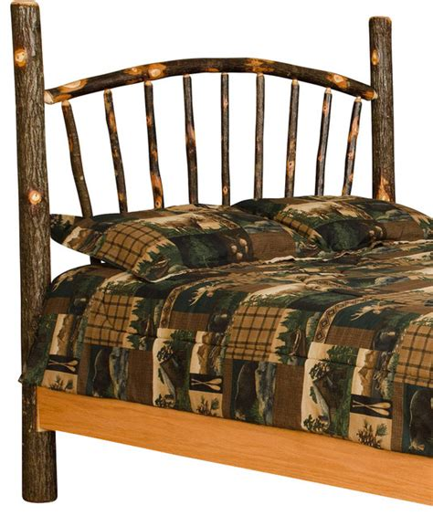 Rustic King Size Headboard by Rustic Hickory Sunburst Bed Size Rustic