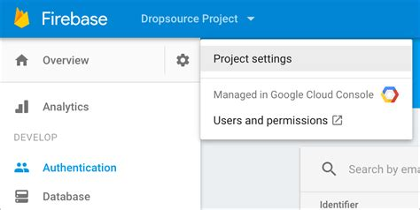 firebase tutorial json authenticate the user with firebase dropsource help center