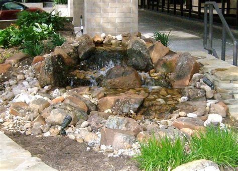 Natural pondless water feature features ideas backyard small landscape