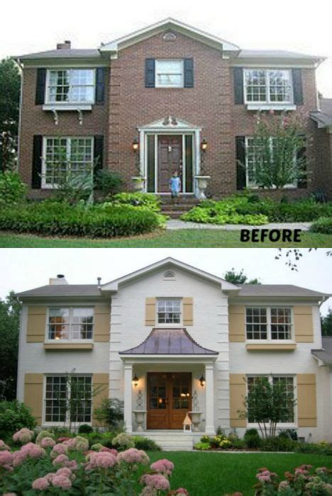 home makeover before and after gray and lime green 25 best ideas about brick exterior makeover on pinterest
