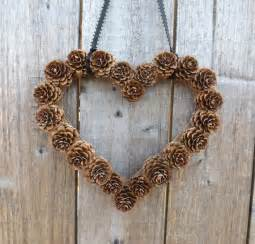 Pinecone Decor Heart Shaped Pine Cone Wreath Rustic Decor Wreath