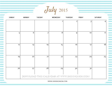printable calendars july 2015 free cute printable calendar templates 2015 hot girls