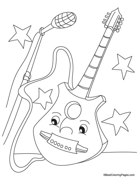 coloring book pages guitar electric guitar coloring pages coloring home