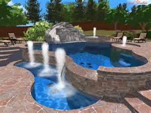 Design Your Backyard Online 3d pool designs king pools inc
