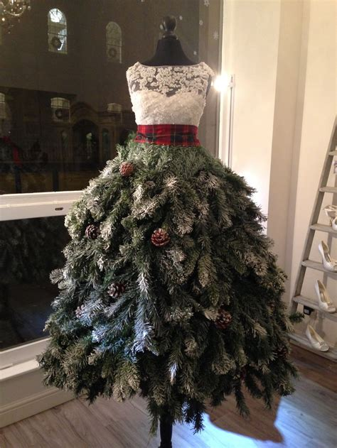 christmas tree dress karen elizabeth bridal window