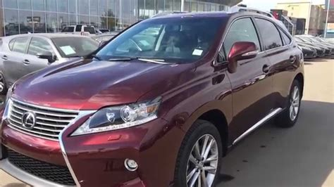 burgundy lexus es 350 2015 lexus rx 350 awd review youtube